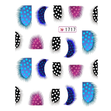 1pcs Fashion Colorful Feather Nail Art Water Transfer Sticker