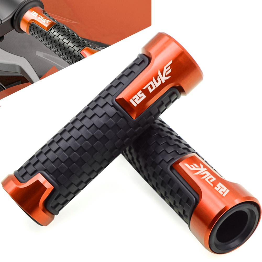FOR KTM 125 DUKE DUKE125 2012 2013 2014 2015 2016 2017 2018 7/8 Motorcycle CNC Rubber Handlebar Hand Grips Bar End Gel Grip image