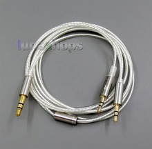 LN006022 1.2m 1.5m 2m 3m czyste srebro platerowane kablem OCC do słuchawek Hifiman HE560 HE 350 HE1000 V2