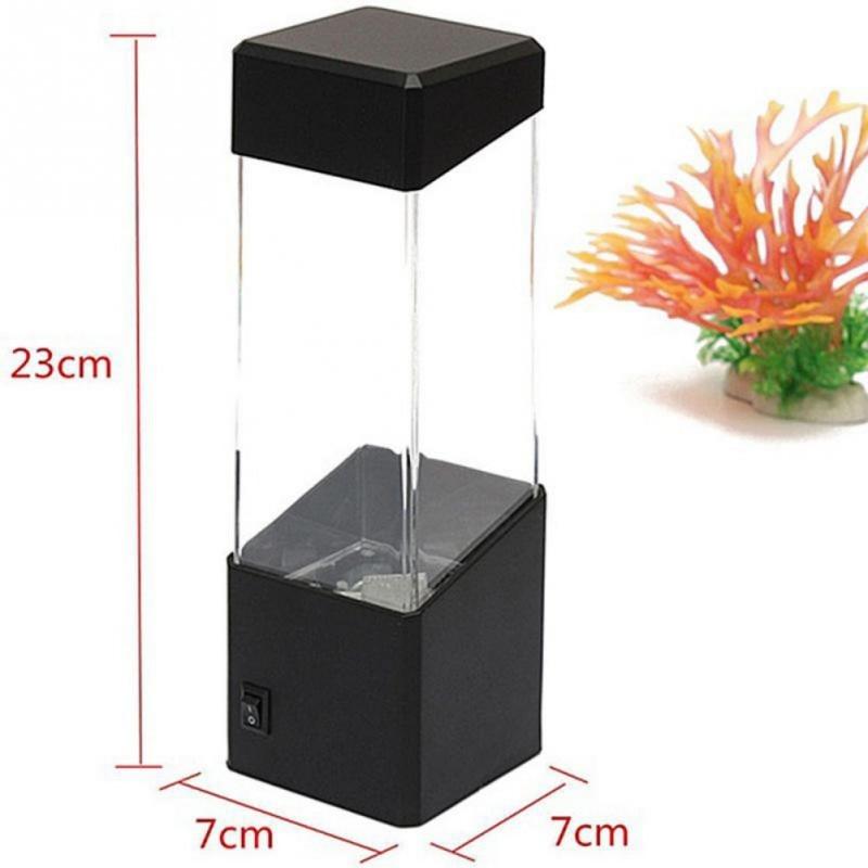 Table Motion Jellyfish Lamp Aquarium LED Tank Desk Lamp Night Light Color Changing Mood Lamp For Home Decoration Magic Lamp