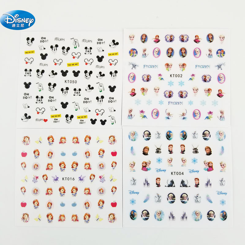 5 Pcs/lot Frozen Elsa And Anna  Nail Stickers Toy  Disney Princess Girl  Sticker Makeup Toy Art Decorations For Girls Gift