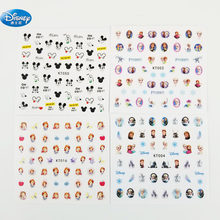5 pcs/lot Frozen elsa and Anna Nail Stickers Toy Disney Princess girl sticker Makeup Toy Art Decorations for girls gift(China)