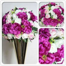 SPR wedding table centerpiece flower ball wedding decorative flowers road lead artificial rose decoration