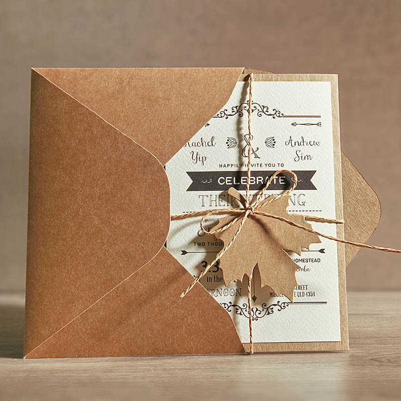 Us 125 0 5x7 Rustic Wedding Invitations Unique Cards With Invitation Envelope Set Of 50 In From Home Garden On