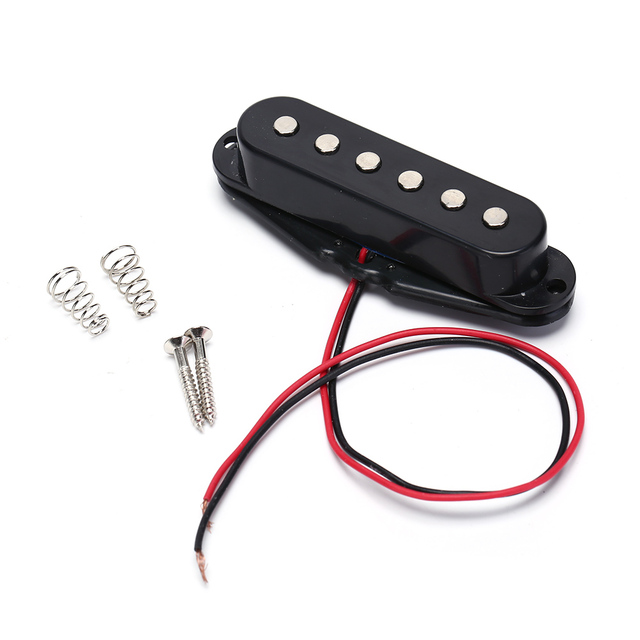 Black Single Coil Sound Pickup for 6 Strings Electric Guitar Harmonious