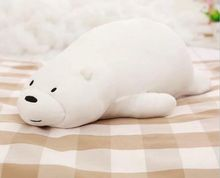 big new plush lying bear toy cute soft white bear pillow doll gift about 90cm 2571