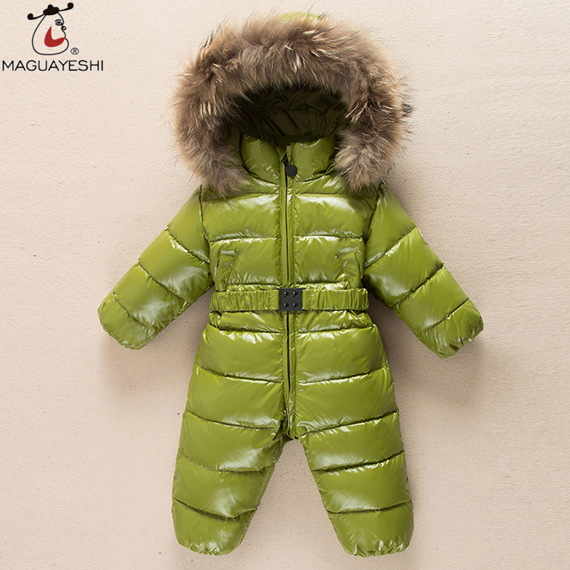 Winter Baby Rompers Snowwear Toddler Baby Clothing Sets Duck Down Newborn Baby Clothes Boys Snow Coat for Baby Girls Clothes winter baby snowsuit baby boys girls rompers infant jumpsuit toddler hooded clothes thicken down coat outwear coverall snow wear