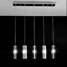 Home Led Luminaria 5 Pcs Dining Room Crystal Pendant Lights Modern Kitchen Crystal Lighting For Restaurant