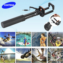Mini Extendable Selfie Stick Monopod for iPhone Samsung Smartphone DSLR Camera YUNTENG 808 Wired Cable Self-Timer & Phone Clip
