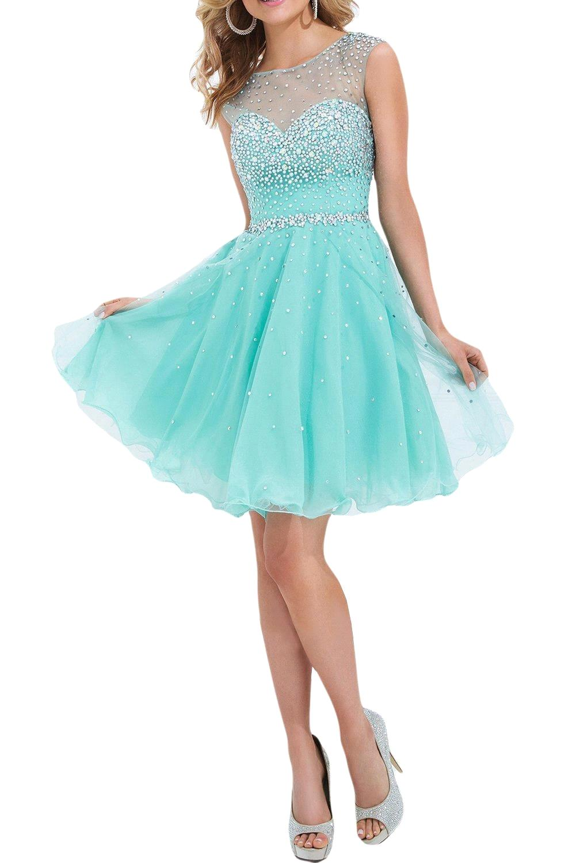 078e3ea0b722a US $70.47  Sparkly Beaded Sheer Boat Mint Green Prom Dresses Short Open  Back A line Party Dresses 2017 vestido de festa curto on Aliexpress.com    ...
