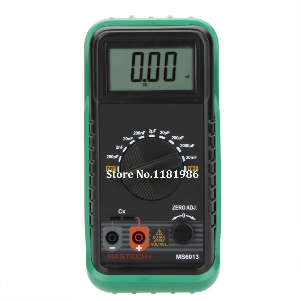 MASTECH MS6013 (MY6013A) 1999 Counts Portable 3 1/2 Digital Capacitance Meter Capacitor Tester 200pF to 20mF  цены