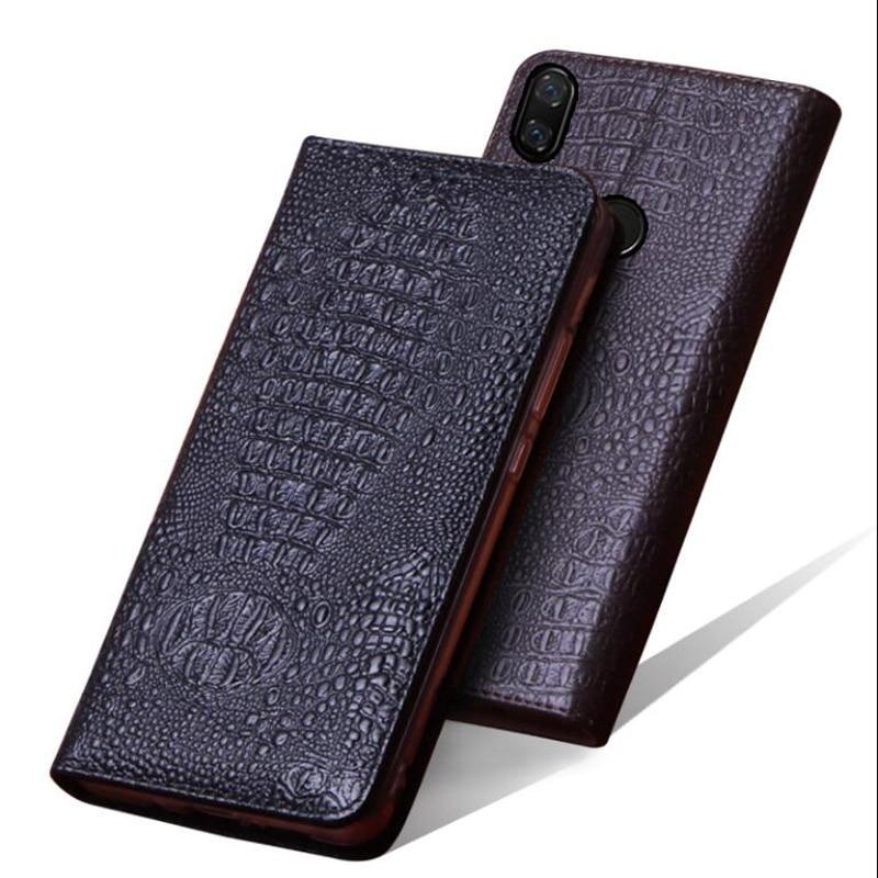 Nefeilike Genuino Caso Della copertura di Huawei Nova 3 Caso di Cuoio di Vibrazione di Protezione Nova 3 Adsorbimento Basamento pattini Del Foro di caso di Alta qualità