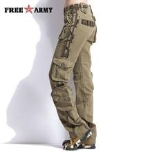 ユニセックス秋の戦術的なパンツ女性軍服カジュアルカーゴパンツ男性戦闘パンツマルチポケット
