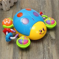 2012 6A Kids Puzzled Toys Infant Music Crawl Ladybug Plaything Electric Sound Toy With Music Light
