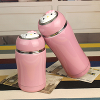 Children Lovely Originality Cartoon Hello Kitty Thermos Schoolgirl Portable Mini 304 Stainless Steel Vacuum Cup