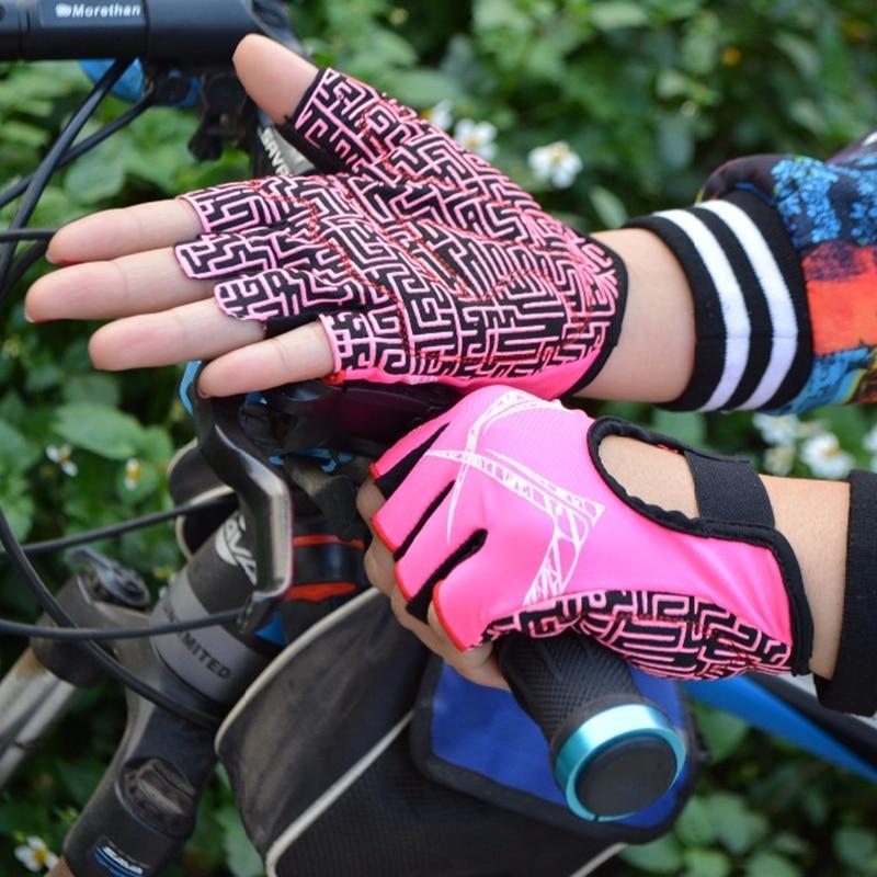 Kvinnors Cykelhandskar Halvfinger Gym Handskar Anti-slip Cykelsport - Cykling - Foto 6