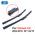 OGE 28''+24''R Pair Wiper Blade For Citroen C4 2004-2010 Windscreen Windshield Rubber Car Accessories CPB114