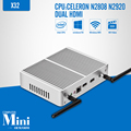 Mini pc celeron n2920 n3510 j1900 computador tablet 8g ram 128G SSD Fanless Motherboard dual HDMI 6 USBLaptop Tv Thin Client caixa