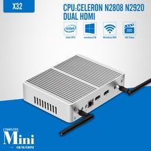 mini pc Celeron N3510 N2920 J1900 Tablet computer 8G RAM 128G SSD Fanless Motherboard dual HDMI 6USBLaptop Thin Client Tv box