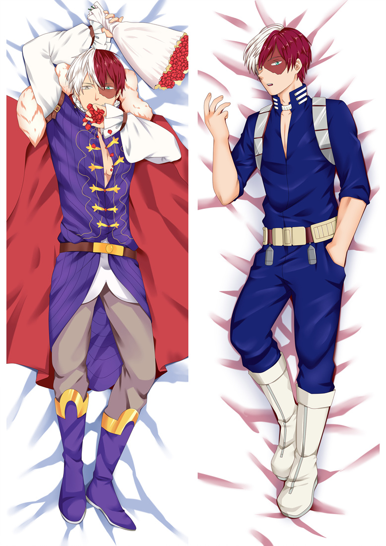 September Update Japanese Anime My Hero Academia Todoroki Shoto Dakimakura Throw Pillow Cover Case Hugging Body Pillowcases