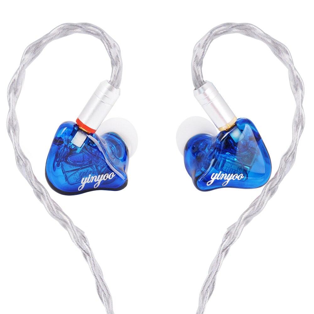 Yinyoo HQ6 6BA dans l'oreille écouteurs sur mesure Armature équilibrée autour de l'oreille écouteurs écouteurs avec connecteur MMCX
