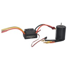 Impermeable 3650 3900Kv Rc Motor sin escobillas 60A Esc para 1/10 Rc coche camión Motor Kit(China)