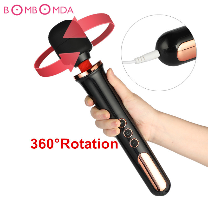 New 10 Speed Rotation AV Magic Wand Vibrator Sex Toys for Woman G Spot Clitoris Anal Dildo Vibrator Clit Masturbation Sex Toys dildo vibrator sex toys 12 speed g spot adult sex products for women stretching rotation beads vibrator av magic wand massager