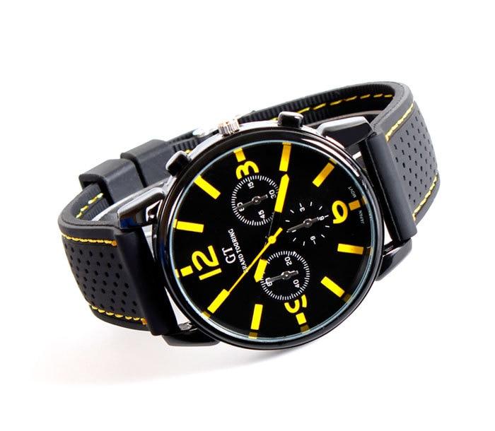 5943bdf844d8 GT Grand Touring GT hombres de la Marca de Los Hombres Relojes Deportivos  Reloj de Cuarzo Pulsera De Silicona Reloj Militar en Relojes de cuarzo de  Relojes ...