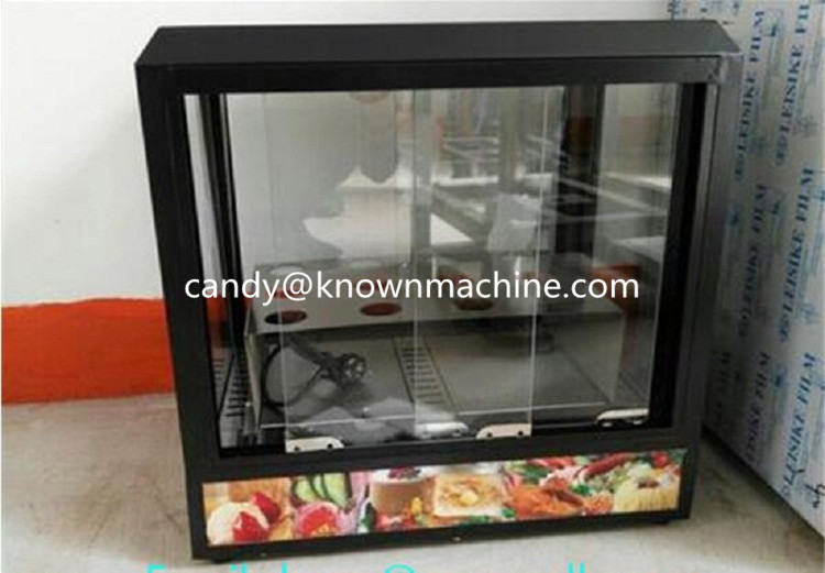 Free shipping hot selling pizza cone display warmer glass table top display for pizza cone