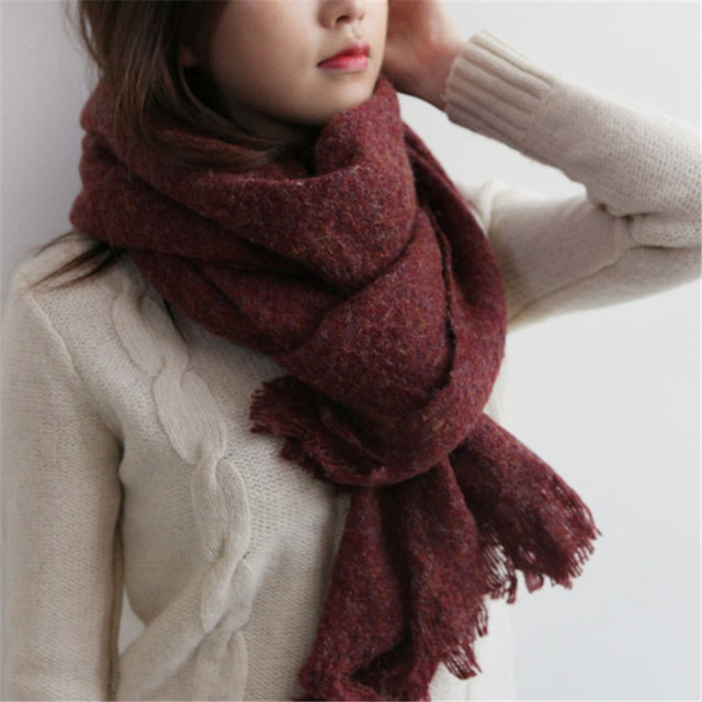 2016 New Luxury Brand Cashmere Wool Poncho Solid Scarf Women Large Size Winter Shawl Fashion Pashmina Cachecol Scarves Women