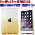 50pcs/Lot DHL Free Case for Apple iPad Mini 4 Fashion Rainbow TPU Soft Gel Transparent Cover For iPad Pro 9.7 IM304
