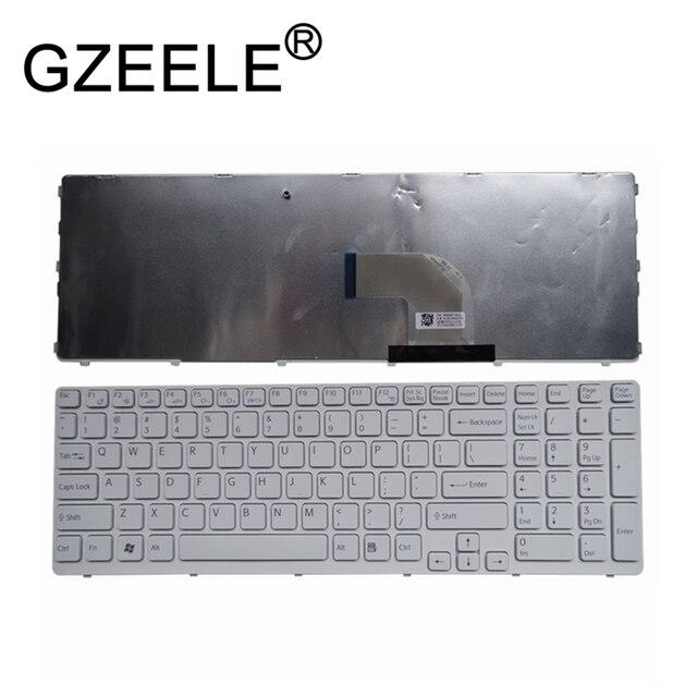 "GZEELE New for SONY VAIO E15 SVE15 SVE1511A1E SVE1511A4E SVE1511B1E SVE 15 SVE1511 English Keyboard white US 149167811 15.5"""