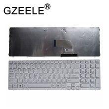 """Gzeele teclado de inglês para sony vaio e15 10 444e, SVE 15 padrão branco eua 149167811 15.5"""""""