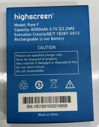 6000 mAh Pur F Batterie Pour Highscreen Boost 2 Boost2 Mobile  phone