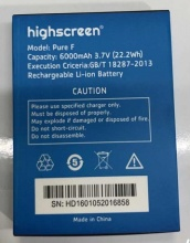 цена 6000 mAh Pur F Batterie Pour Highscreen Boost 2 Boost2 Mobile  phone