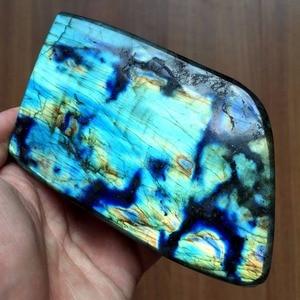 Image 2 - Pierre naturelle de guérison, Quartz poli en Labradorite, pierre naturelle, pour la maison