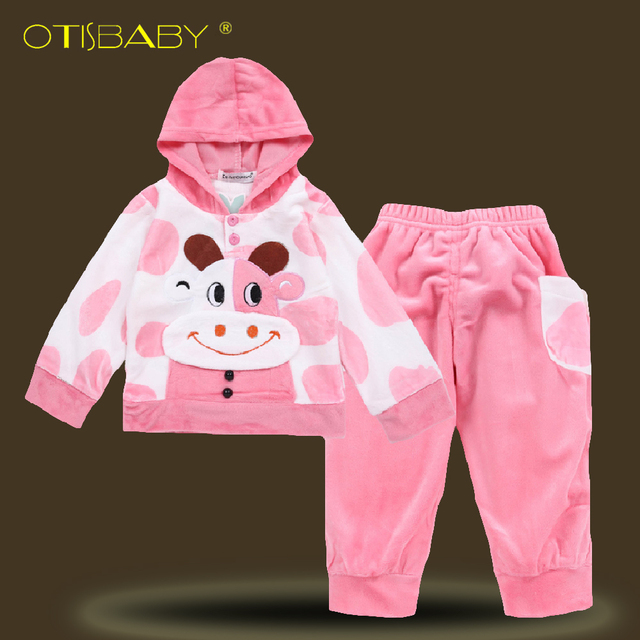0196053c3 US $9.26 25% OFF|Winter Newborn Baby Girls Clothing Set for 1 2 3 Years  Toddler Cow Hooded Pullover Baby Christmas Outfits Kids Kitty Bodysuit -in  ...