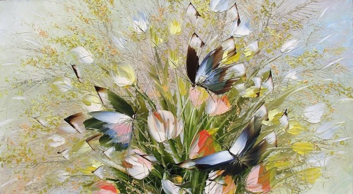 Famous Butterfly Paintings Reviews - Online Shopping -9519
