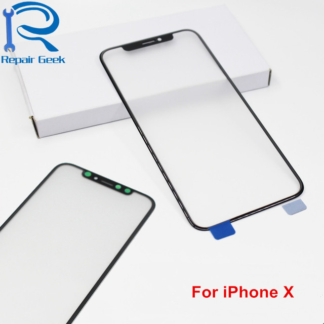 5pcs/lot Front Screen Outer Glass For iPhone X High Quality Touch Screen Glass Lens Replacement Parts