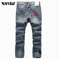 Evisu Брендовые мужские джинсы повседневные обтягивающие джинсы дышащие мужские брюки стройнит середины талии мужские джинсы стрейч Мужская