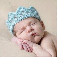 10Pcs/lot Newborn Photography Props Handmade Baby Hair Crown 14 Colors Hair Band Photo Props