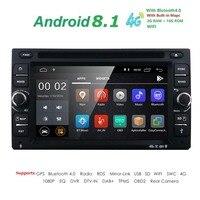 Android 8.16.2Inch авто радио Ouad Core 2DIN универсальный DVD плеер автомобиля gps стерео аудио головное устройство поддержка DAB DVR OBD BT