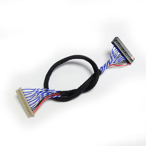 Image 2 - Universal LVDS Cable DF14 20 S6 20pin double Dual 2 ch 6 bit 20p 1.25mm for 12inch 15inch LCD panel