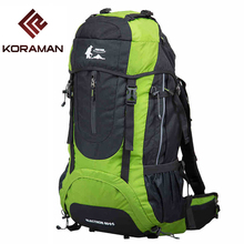 Camping Bags For Men 60L Waterproof Nylon Breathable Internal Frame 1.8KG Women Sports Outdoor Bags Tactical Backpack Rucksack
