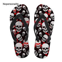 Nopersonality Classic Sugar Skull Print Flipflops Anti-skid Female Ladies Summer Beach Slippers Sandals Flat Home Bath Flip Flop