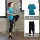 Talla grande mujeres Pro Fitness2 piezas conjunto Leggings + Top ropa de entrenamiento gimnasio deporte correr chica Yoga ejercicio apretado Culturismo l 4XL