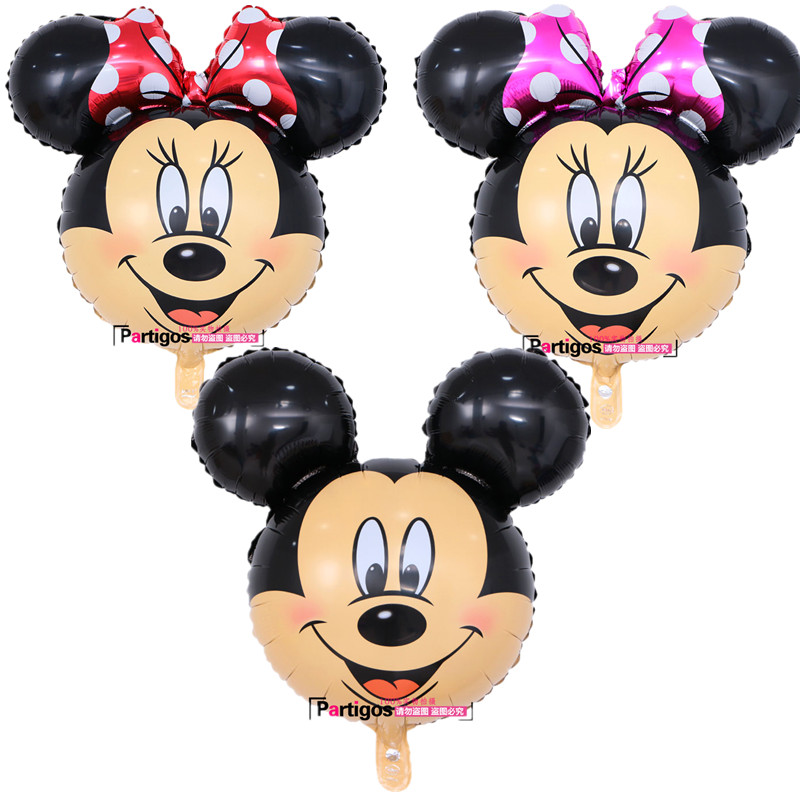 50pcs lot 63 68cm Cute Mickey Minnie Mouse Aluminum Foil Balloons Kid s Birthday Party Wedding