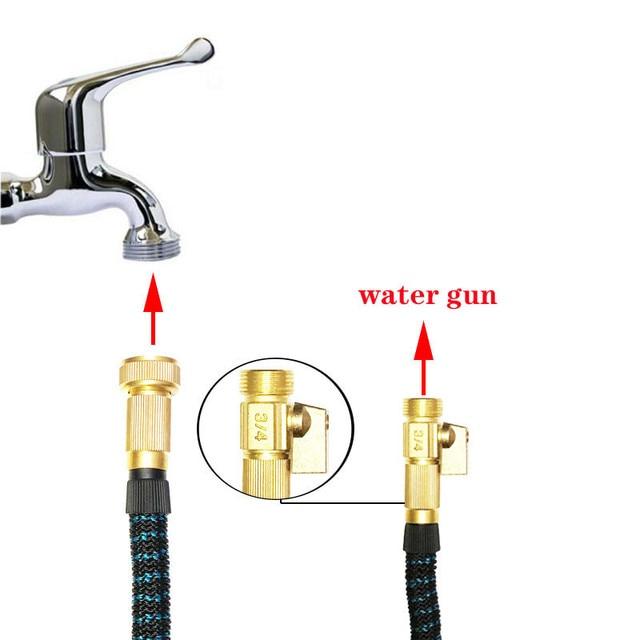 Tuyau darrosage flexible extensible Double Latex 25ft-100ft   Tuyau darrosage de jardin, haute pression, tuyau deau pour lavage de voiture