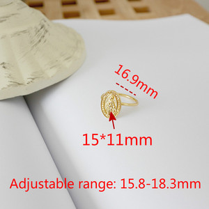 Image 5 - Flyleaf Gold Virgin Mary Round Brand Open Rings For Women High Quality 100% 925 Sterling Silver Lady Religion Jewelry