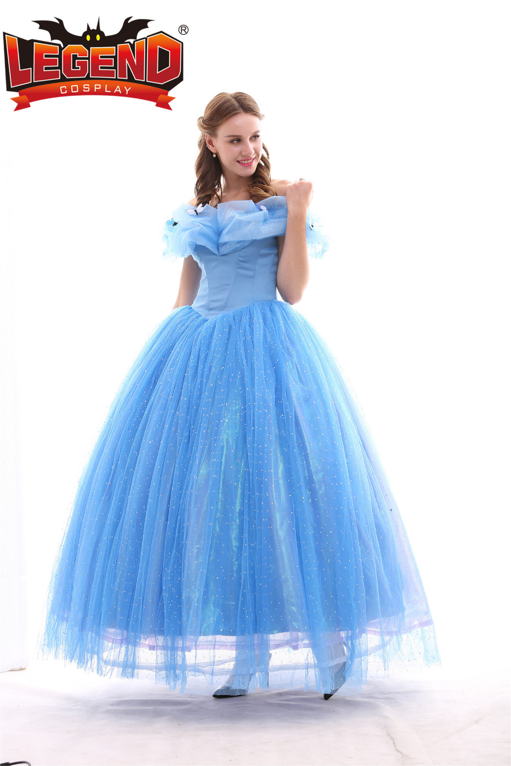 Cinderella Princess Dress Costume Adult Wedding Gown Halloween Carnival Birthday Party Cosplay In Movie TV Costumes From Novelty